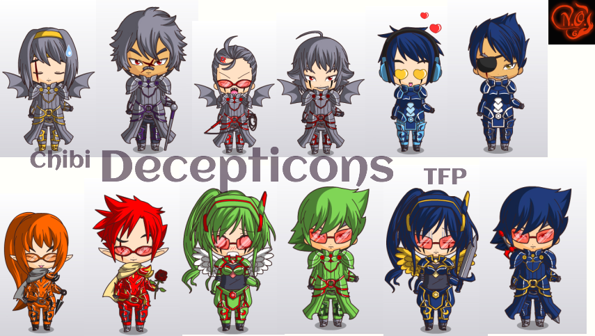 b96200ce04b Transformers Prime Chibi Decepticons by Nightout6 on DeviantArt