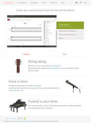 MuseScore Homepage - Iteration 2 by Mirek2