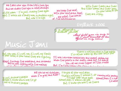 Music Jam.1 by evyblack