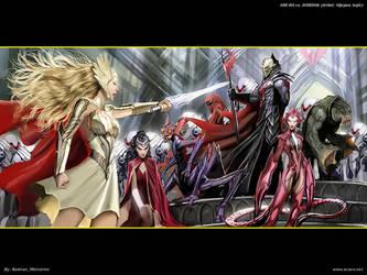 She-Ra vs. Hordak by batwolverine