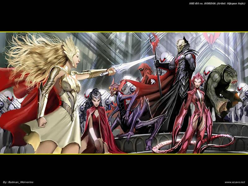 She-Ra vs. Hordak by batwolverine on DeviantArt