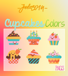 Colors Cupcakes - Png's