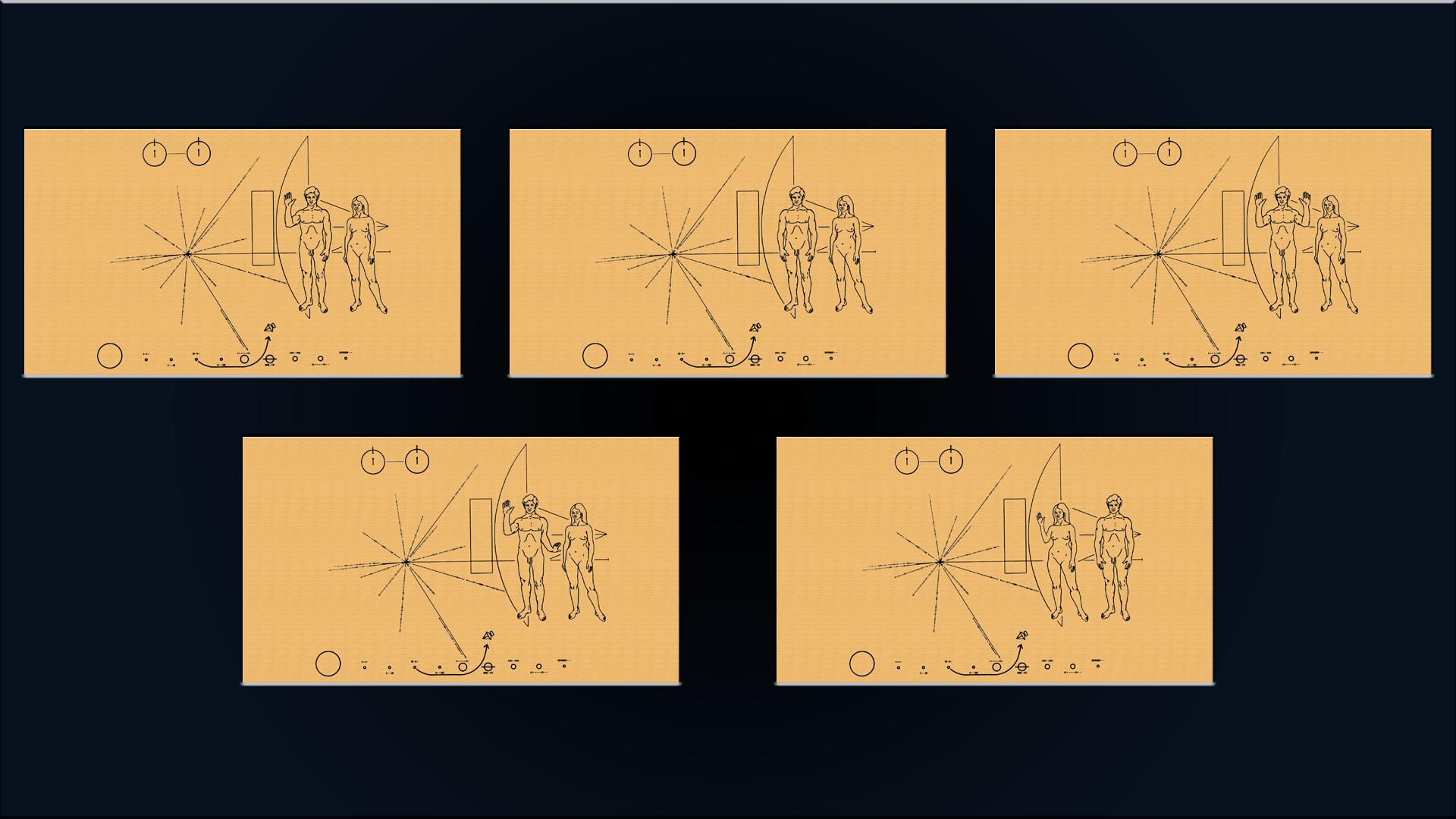 ExoConference - Pioneer 10 Plaque Set