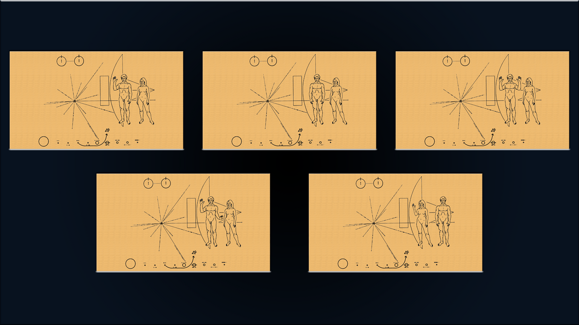 exoconference pioneer 10 plaque set by diggerel7 on. Black Bedroom Furniture Sets. Home Design Ideas