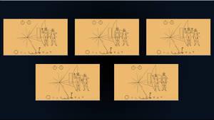 ExoConference - Pioneer 10 Plaque Set by DiggerEl7
