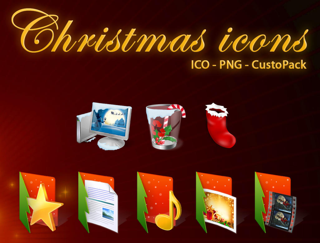 Christmas icons by Custo-man