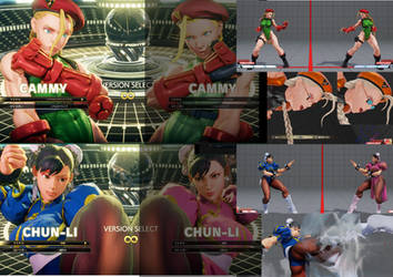 1.1 Cammy and Chunli SF4 FACE MOD by famika