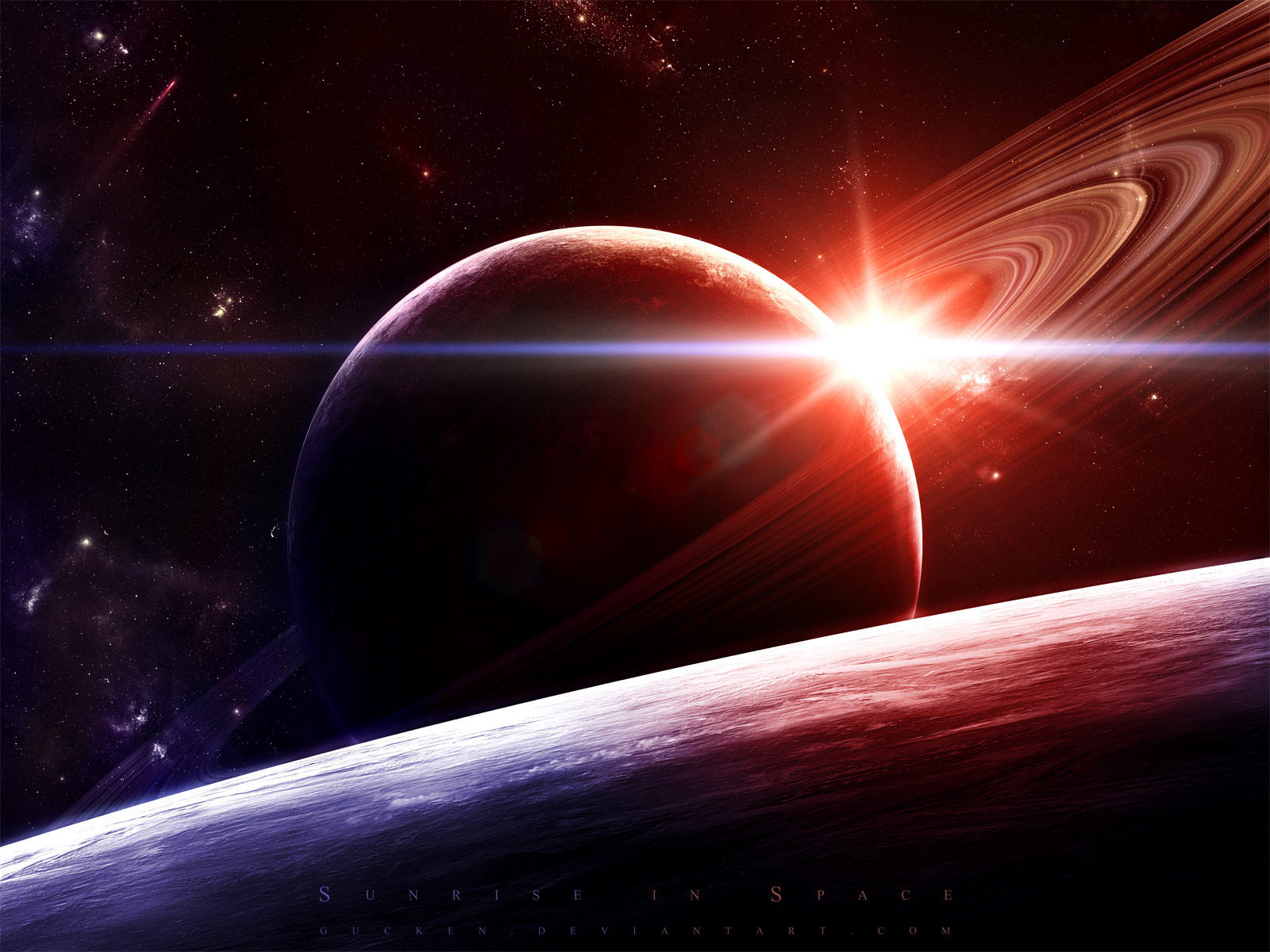 Sunrise in Space by gucken