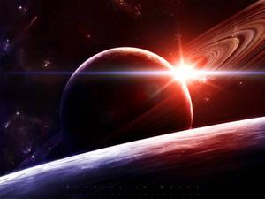 Sunrise in Space by gucken