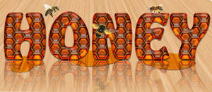 How to create a text of honeycomb of honey