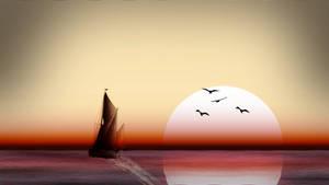 How I created the Sea Sailing Morning