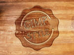 How to create a Wooden logo