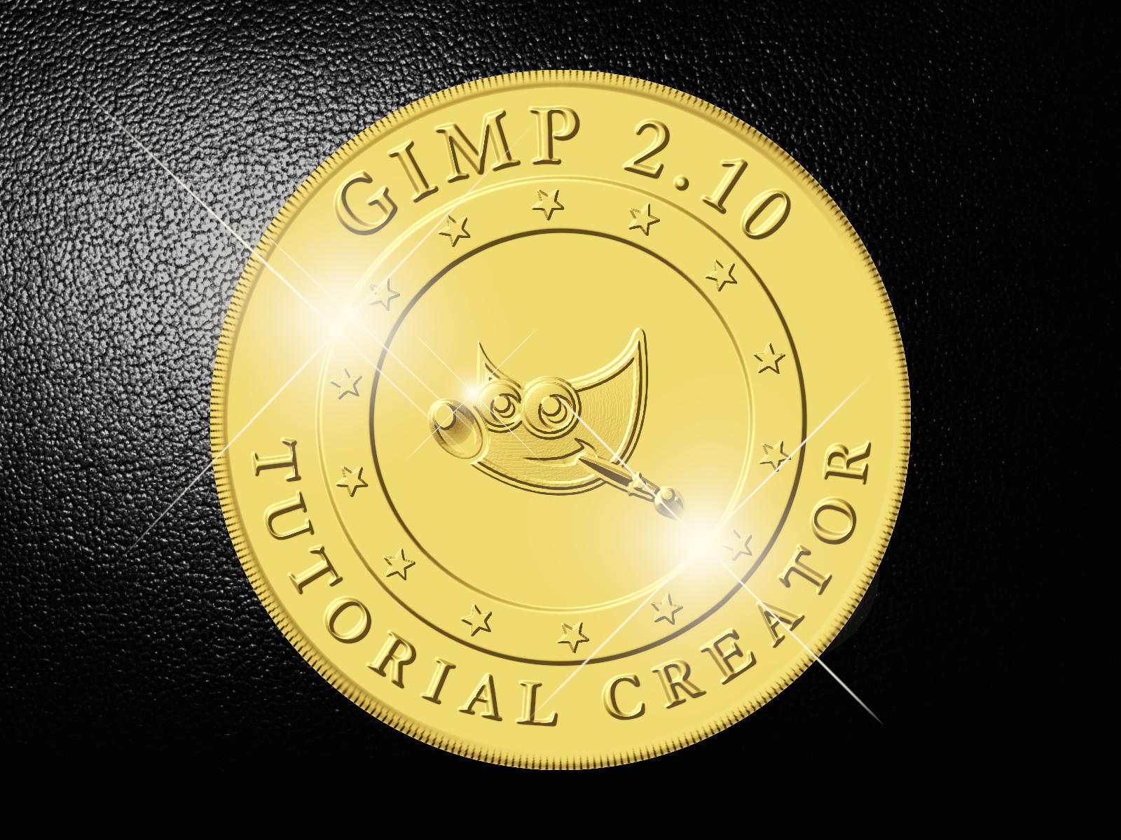 Gold Coin In Gimp 2 10 By Conbagui