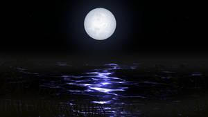 Create Stars and Moonlighting scene with Gimp 2.10