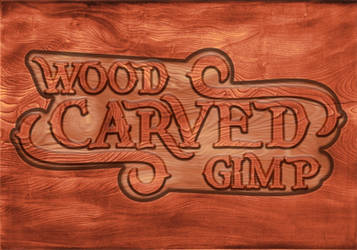Create a Carved wood Text with Gimp 2.10 by conbagui