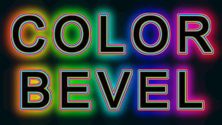 Create Color Bevel Text with GIMP 2.10