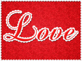 Create a custom Lace brush and Text effect