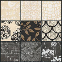 Black and White Paper set - free to use by amberwillow