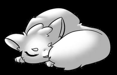FREE - sleepy kitty base by Kyttias