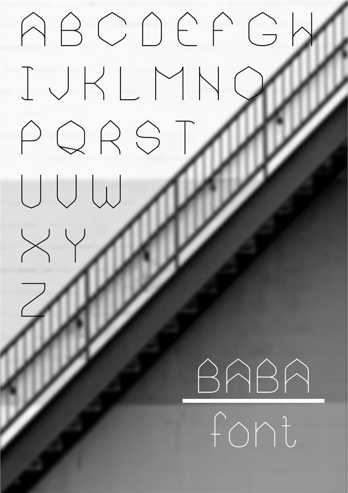 BABA - font