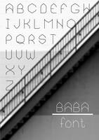 BABA - font by mocon