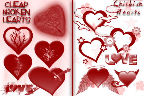 Cheap and Childish Hearts by Kedar9