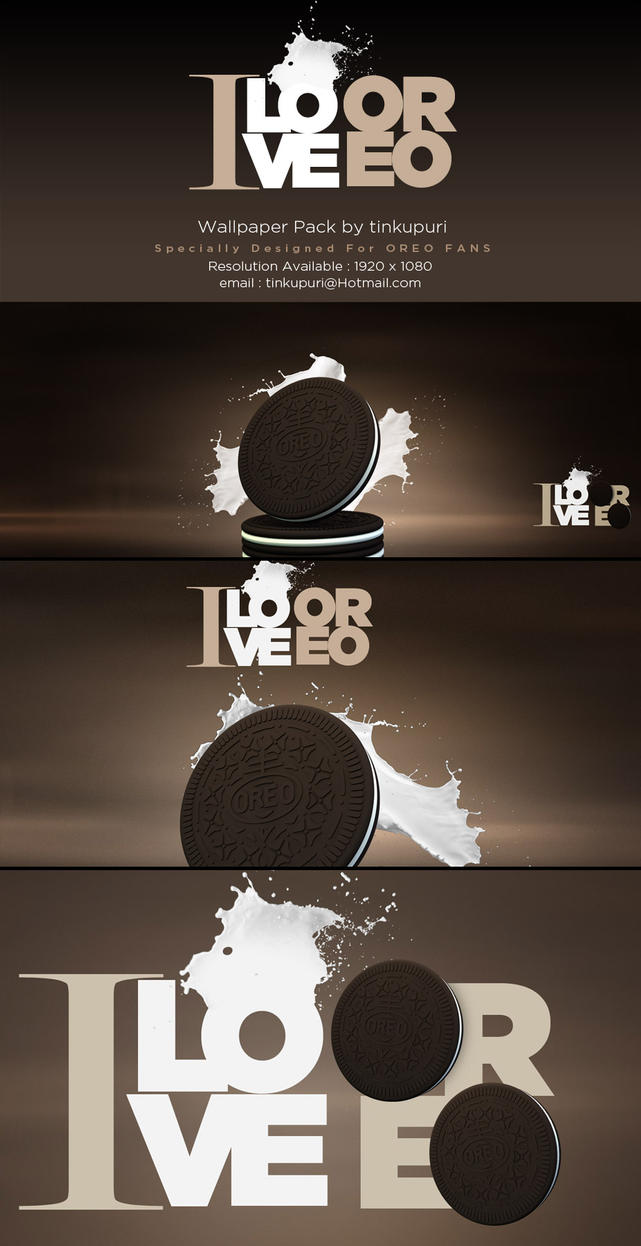 I LOVE OREO - THE WALLPAPER PACK by tinkupuri