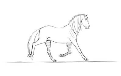 Horse Trot Template animation WIP