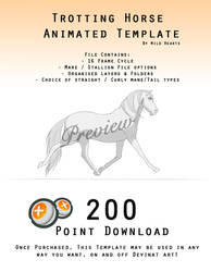 Downloadable Trotting Horse Template - ANIMATED