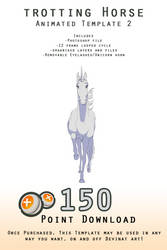 Downloadable Trotting Horse Template 2 - ANIMATED
