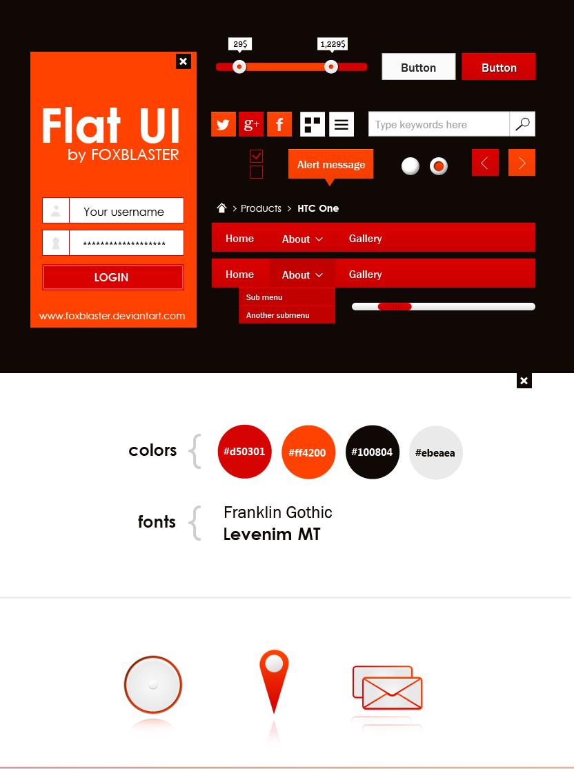 flat UI kit