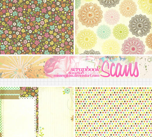 4 Scrapbook scans - 1703 by Missesglass