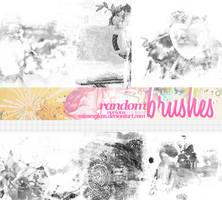 Random Brushes - 1705 by Missesglass