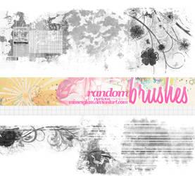 Random Brushes - 1808 by Missesglass
