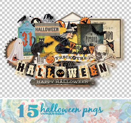 Halloween PNGs by Missesglass