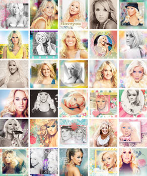 Carrie Underwood/Christina Aguilera icons