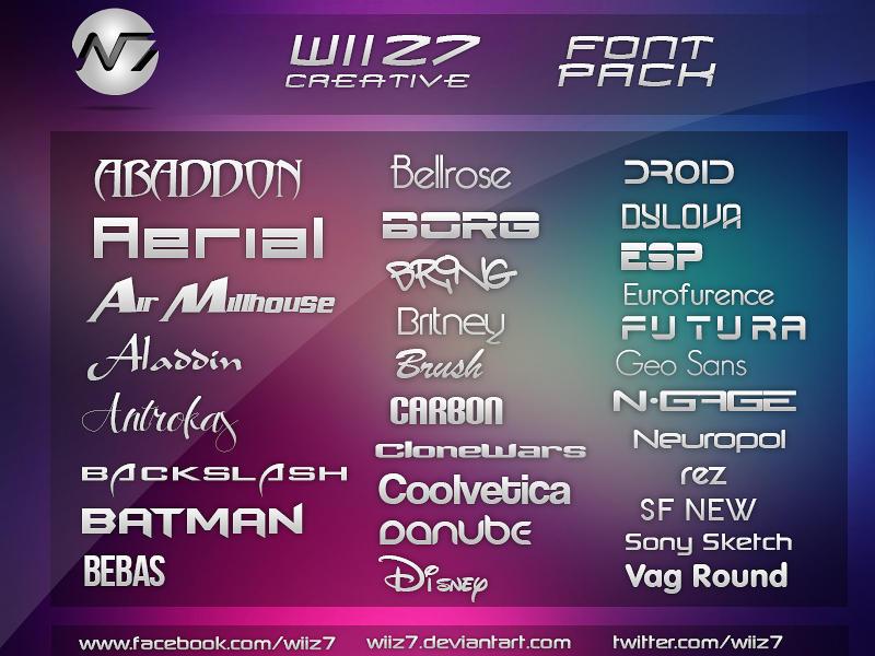 Wiiz7 Creative Font Pack #1 by daWIIZ
