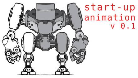 2D skeletal animation - Mech H16 : start-up