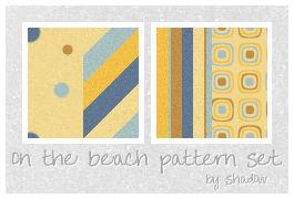 on the beach pattern set