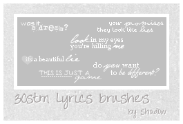 30stm lyrics brushes by FloatingShadow