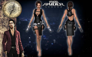 Lara Croft TRL Tokyo Dress Ripped by Lerova