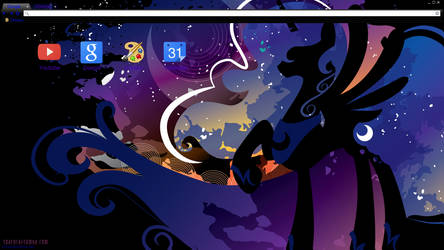Luna Silhouette Chrome theme (Black variation) by Daring-Dash-Hoof