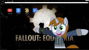 Old Equestria Google Chrome theme W/ littlepip by Daring-Dash-Hoof