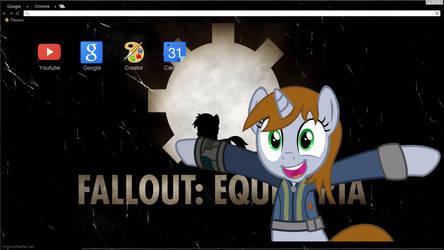 Old Equestria Google Chrome theme W/ littlepip by Daring-Dash-Hoof