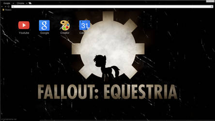 Old Equestria Google Chrome theme W/o littlepip by Daring-Dash-Hoof