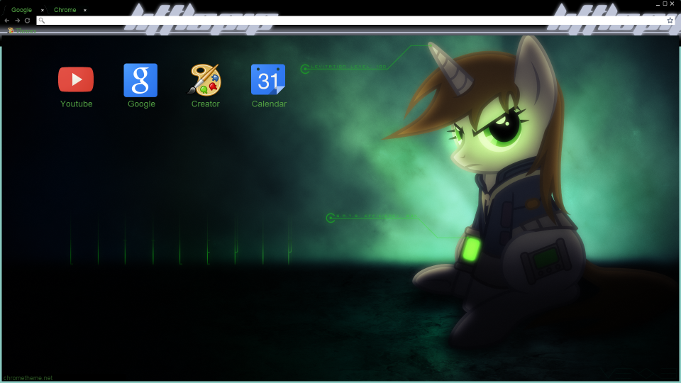 Littlepip Chrome theme by Daring-Dash-Hoof