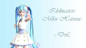 Idolm@ster White Dress Miku + DL by APrinceOfVoid