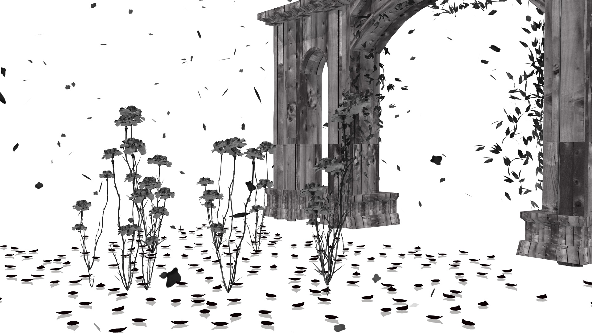 Black Rose Petal Effect DL by APrinceOfVoid