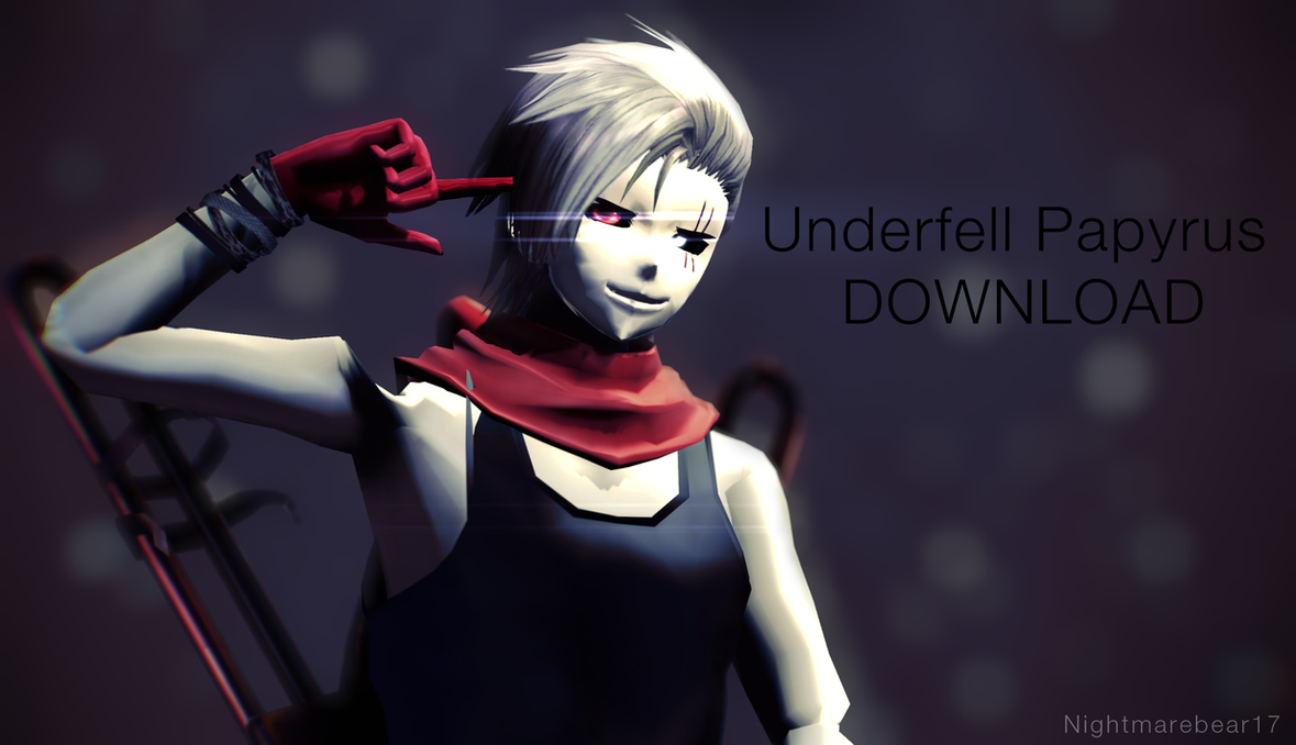 [MMD] Underfell Papyrus [Download] by NightmareBear17
