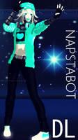   MMD   [Underswap] Napstblook/Napstabot (DL) by NightmareBear17